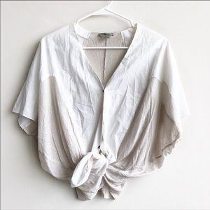 (NWT) Helmut Lang Poplin Shirting Optic White